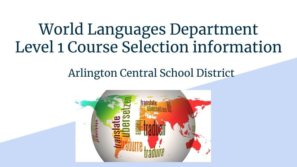 Check out this presentation to explore which languages are offered in Arlington!