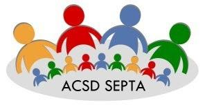Silhouette of people, logo for ACSD SEPTA