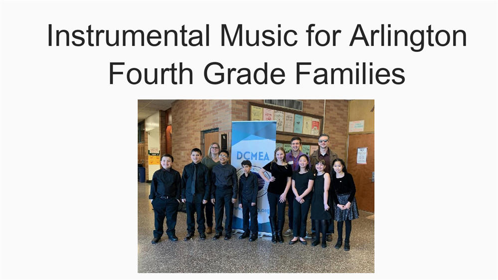 Instrumental Music For Arlington Fourth Grade Families