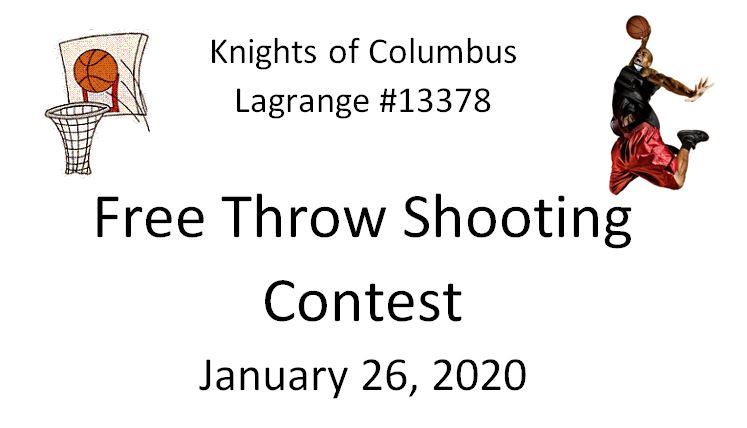 Knights of Columbus Free Throw Shooting 2020