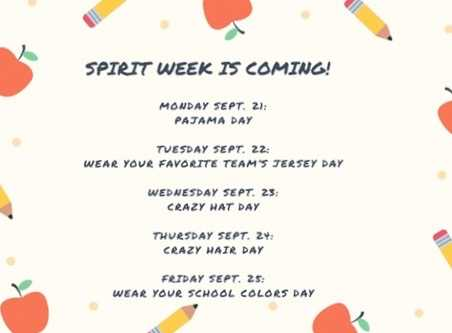 Spirit Week is Coming!