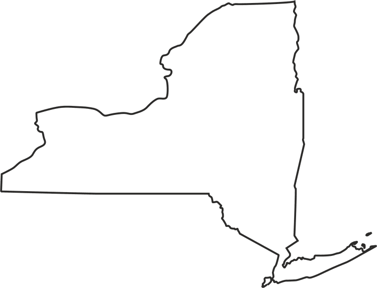 Blank New York Map Blank Map Of New York State | Time Zone Map