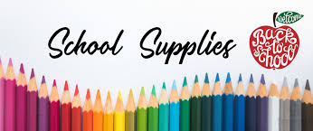Traver Grade Level Supply Lists 2020-2021