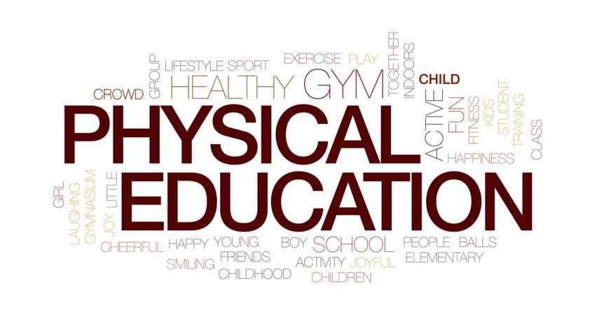 Physical Education Word Art
